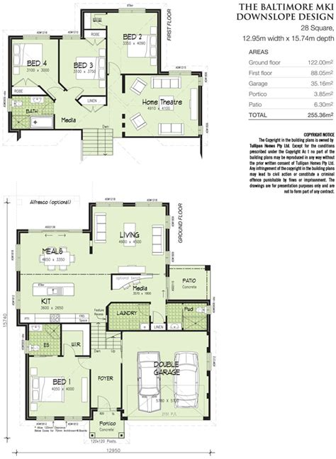 Tri Level Home Plans Baltimore Mk 1 Downslope Design Tri Level Home Design Tullipan Homes