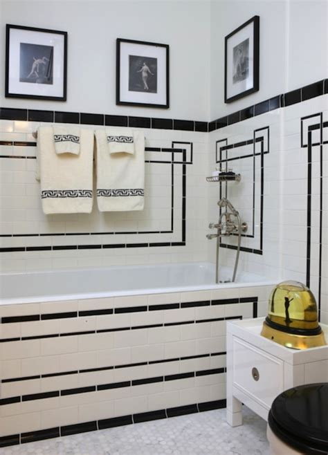 black and white bathroom art art deco bathroom french bathroom jessica lagrange