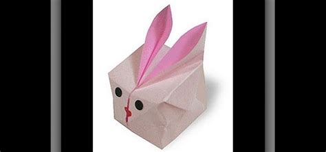 how to make an adorable origami bunny cube