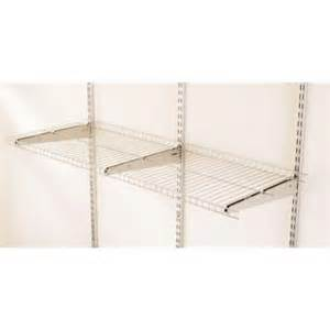wire shelving home depot rubbermaid 48 in x 16 in fasttrack garage wire shelf