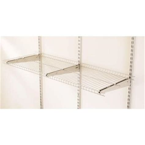 rubbermaid 48 in x 16 in fasttrack garage wire shelf