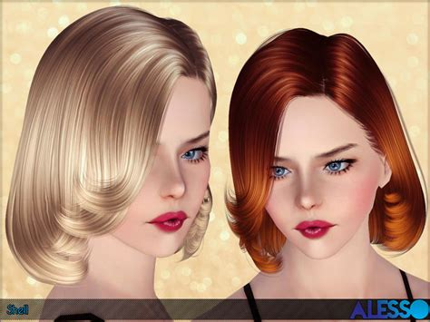 short female hair sims 3 anto shell hair