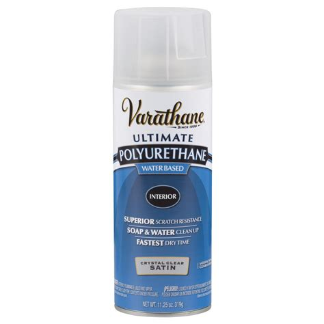 spray paint polyurethane varathane 11 25 oz clear satin water based interior
