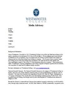 media alert template westminster college cus media kit