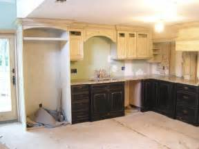 Distressed Kitchen Cabinets Kitchen Trends Distressed Black Kitchen Cabinets