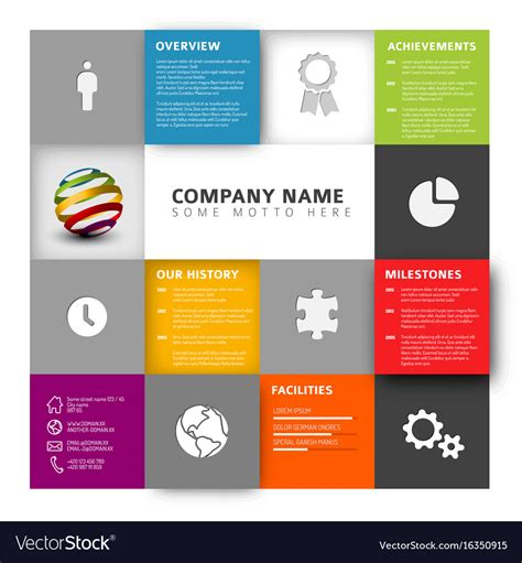 company profile design tutorial corporate profile template ideal vistalist co