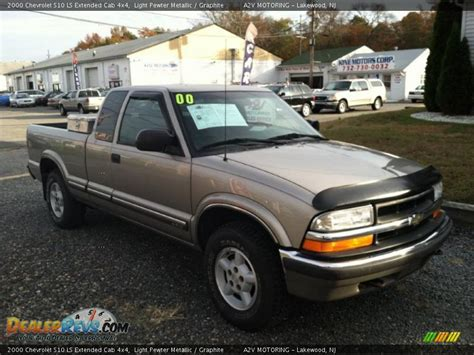 2000 chevrolet s10 ls extended cab 4x4 light pewter