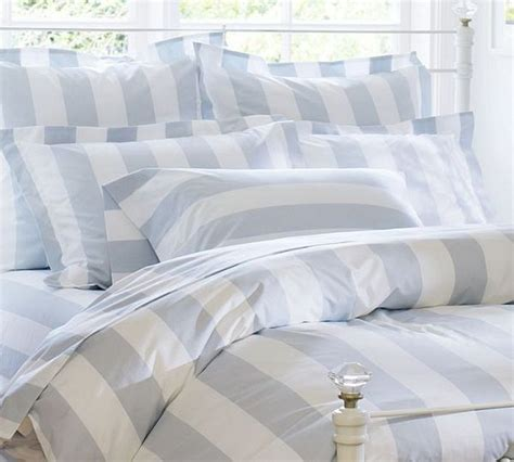 Light Blue And White Duvet Cover Enchanting Striped Duvet Covers Shams For A Fancy