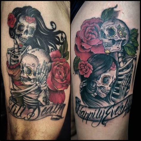 skull tattoo for couples skeleton couple tattoo google search couple tattoo