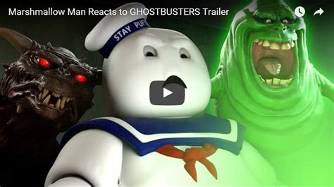 Stay Puft Marshmallow Man Meme - marshmallow man reacts to ghostbusters trailer epic geekdom