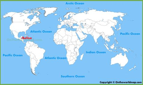 map world locations where is belize located geography and map of belize