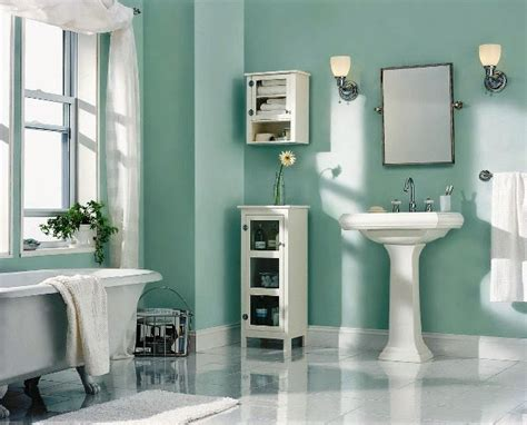 Painting A Small Bathroom Ideas | accent wall paint ideas bathroom
