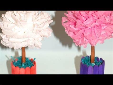 centro de mesa con flores de papel de seda diy tissue paper flowers centerpiece