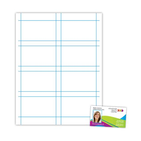 template for 8 5 x 5 5 card two up 8 5 x 11 business card template card design ideas