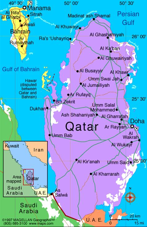 middle east map qatar qatar atlas maps and resources infoplease