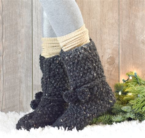 knitted boot socks free pattern mountain chalet boot slipper knitting pattern knit flat