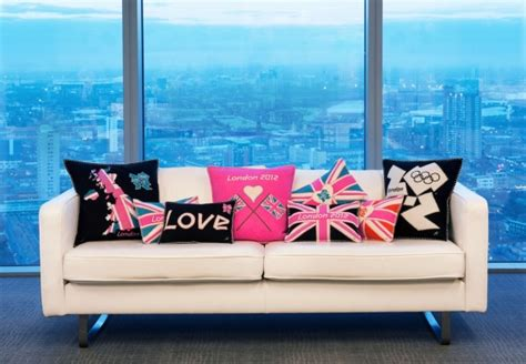 Sofa Bed Olympic celebrate 2012 with olympic cushions amara s
