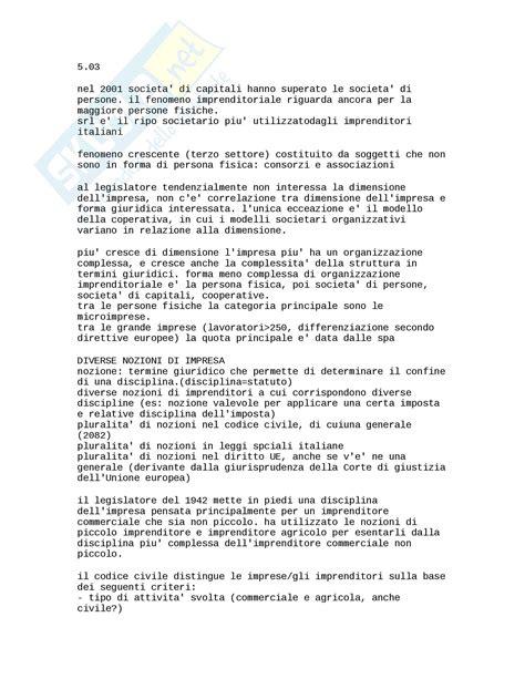 Diritto Commerciale Dispensa by Nozioni E Concetti Appunti Di Diritto Commerciale