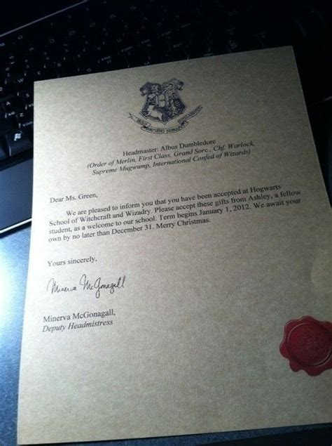Hogwarts Acceptance Letter Real Harry Potter Hogwarts Acceptance Letter 183 How To Make A Digital Artwork 183 Computer On Cut