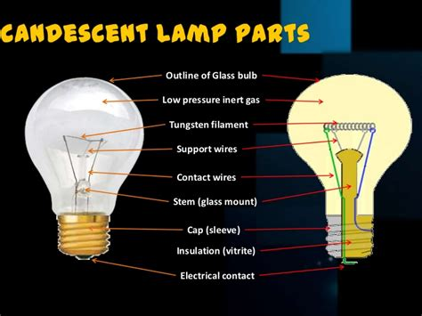 Parts Of A Light Bulb by Incandescent L