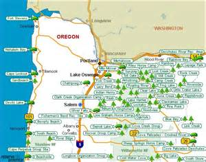 oregon state cgrounds map oregon csites oregon national parks oregon state