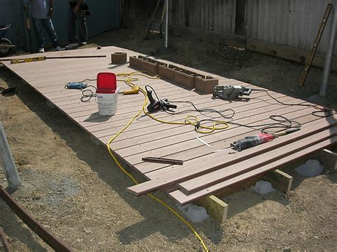 building a patio how to build a floating deck how tos diy