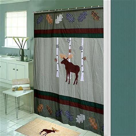 moose shower curtains moose shower curtain shop everything log homes