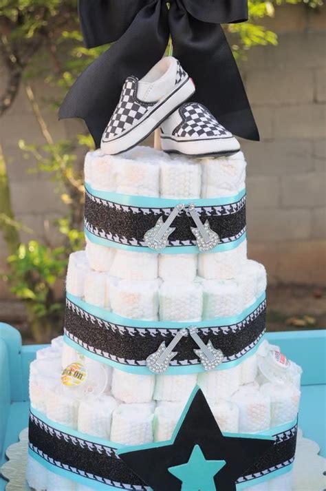 Rocking Baby Shower Cake by Rockin Baby Shower Cake Ideias Ch 225 De Beb 233