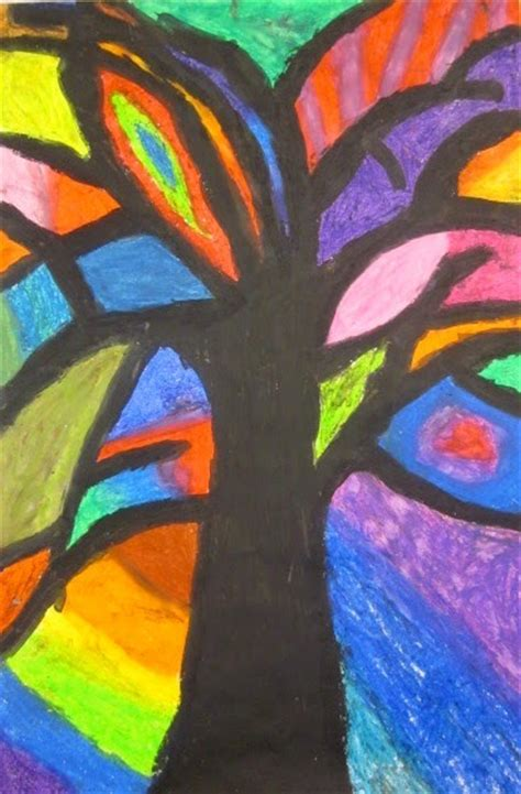 abstract art basic art art is basic art teacher blog abstract trees inspired by piet mondrian