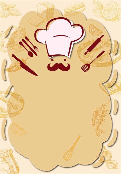 chef background restaurant chef recruiting design poster vector