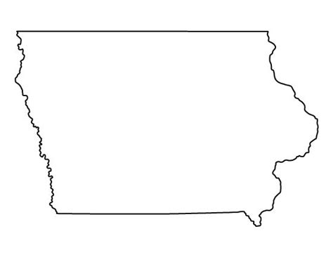 printable map iowa iowa pattern use the printable outline for crafts