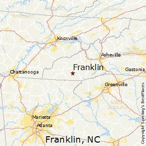 map of franklin carolina best places to live in franklin carolina