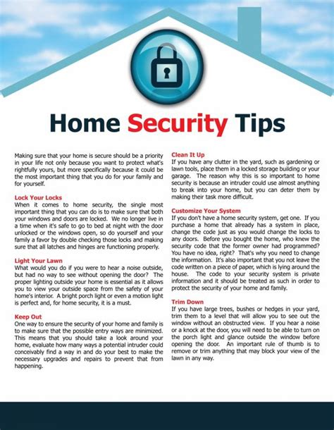 home security tips home security tips