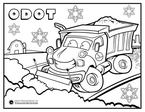 Snow Plow Coloring Page katy snow plow coloring page coloring pages