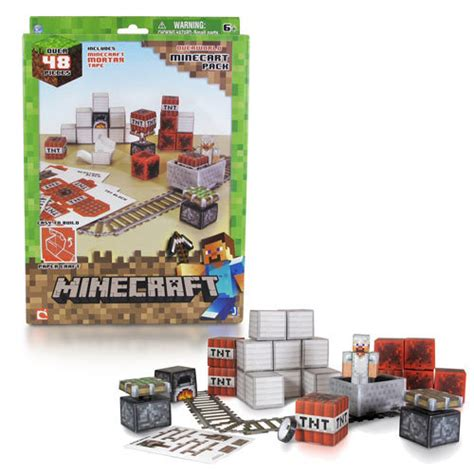 Minecraft Papercraft Minecart Set - minecraft papercraft minecart set 48 pack