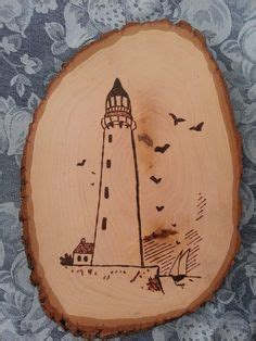set   lighthouse woodburned wood plaques nautical pyrography pinterest wood plaques