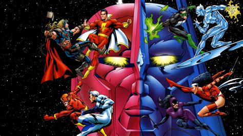 collage of marvel and dc characters hd wallpaper and dc comics vs marvel superheroes wallpaper