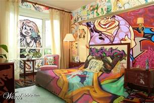 Graffiti Bedroom | graffiti bedroom decoration on the wall