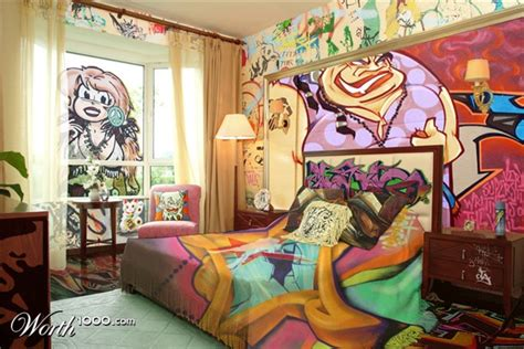 Graffiti Designs For Bedrooms Graffiti Bedroom Decoration On The Wall