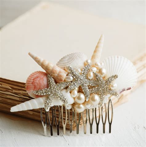 Wedding Hair Accessories Island by Bridal Hair Comb Sea Shell Hair Accessory By