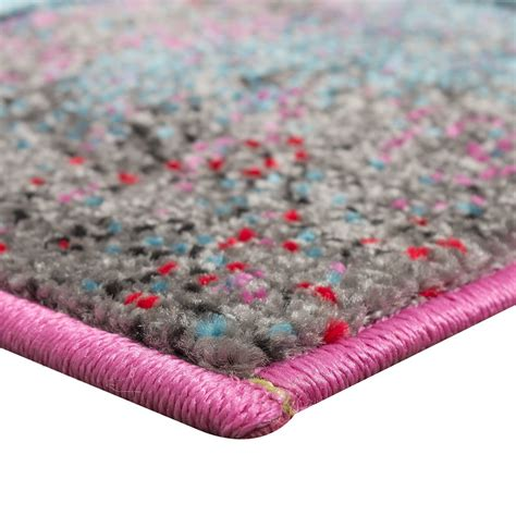 Bedside Runner Rug Bedside Runner Rug Multicolour Turquoise Grey Pink Orange 3 Part Set Carpets Bed Surrounds