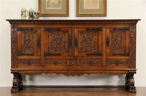 antike kredenz sold carved oak 1915 antique signed
