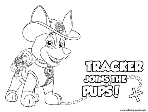 paw patrol coloring pages new pup paw patrol tracker pups coloring pages printable