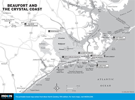 coastal carolina map visiting beaufort and the coast moon travel guides