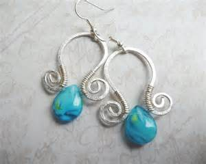 Handmade Jewelry On Etsy - wire wrapped jewelry handmade turquoise by fancyyoudesigns