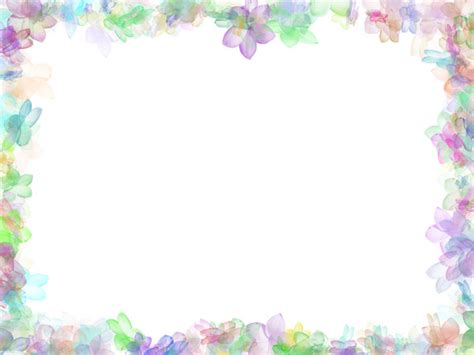 Floral Background Border With Flowers Hq Free Download Flowers Nature Border Powerpoint Templates Flowers
