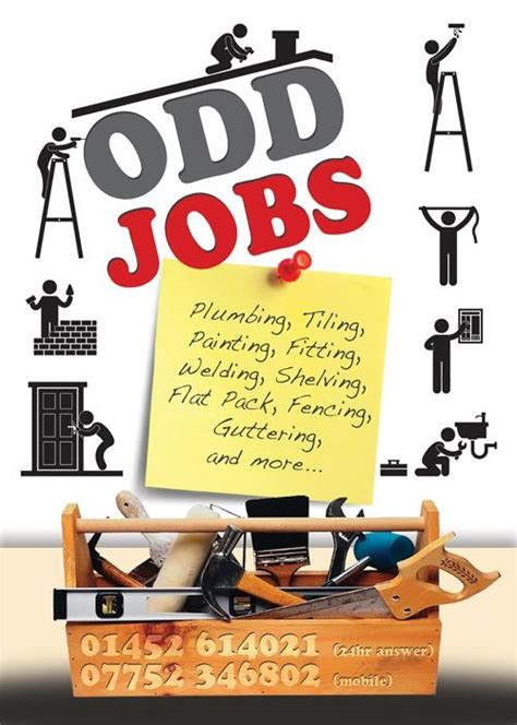 Odd Jobs Flyer Graphic Design Handyman Pinterest Flyers Handyman Ad Template