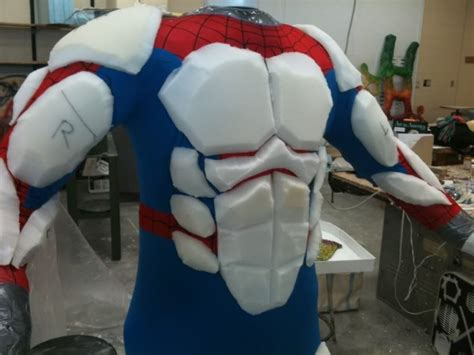 latex armor tutorial using foam to make a better muscle suit over a skin suit