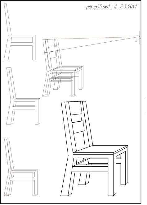 stuhl der seite zeichnen perspektive 6 und expressionismus