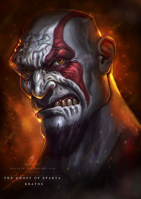 ghost of sparta kratos by huzzain on deviantart